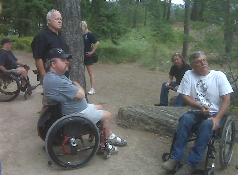 Wheelchairs on Tubbs Hill